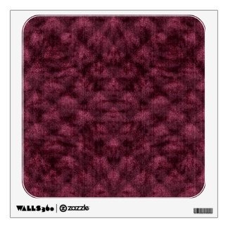 Quilted Ruby Maroon Velvety Pattern Wall Sticker