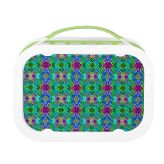 Quilted Small Pattern Bright Design Lunch box