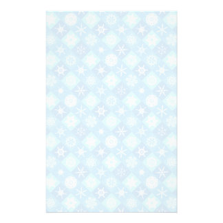 quilted snowflake and winter pattern stationery