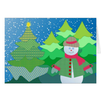 Quilted snowman card