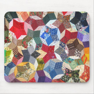 Quilted Stars Mouse Pad