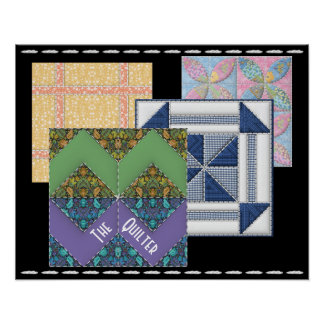 Quilter at Work Poster