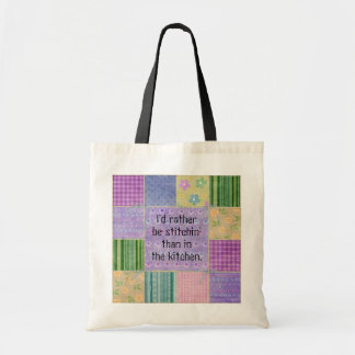 Quilter Humour Patchwork Tote Bag