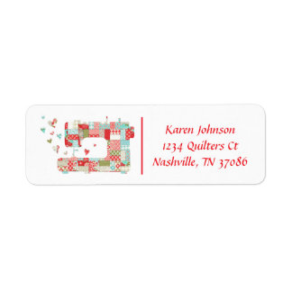 Quilter Sewing Machine Address Labels