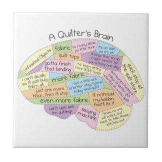 Quilter's Brain Ceramic Tile