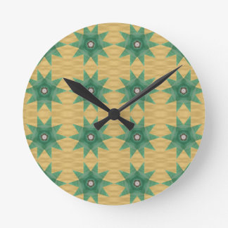 Quilter's Star Pattern! Round Clock
