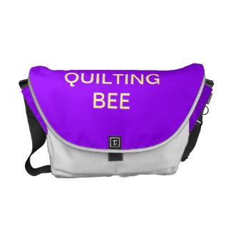 QUILTING BEE BAG MESSENGER BAG
