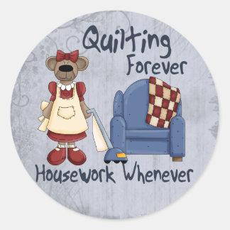 Quilting Forever Round Sticker