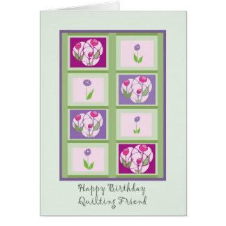 Quilting Friend Birthday Card