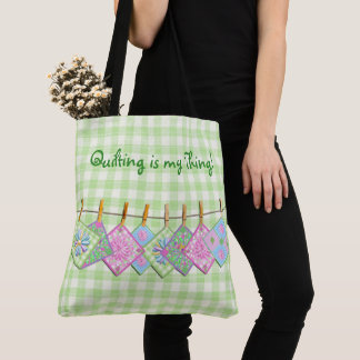 QUILTING IS MY THING TOTE BAG - CLOSELINE QUILT PC
