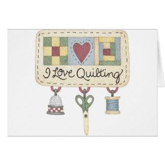 Quilting merchandise card