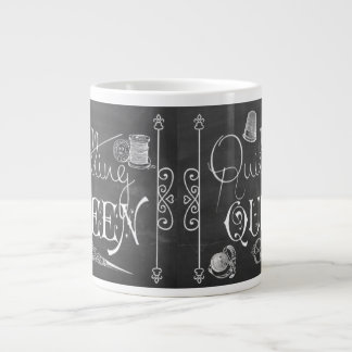 Quilting Queen chalkboard decor Jumbo Mug