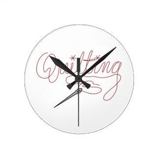 Quilting Round Clock