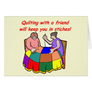 Quilting with a friend card