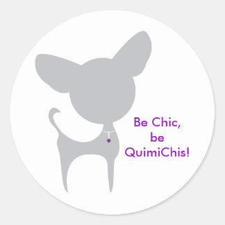 QuimiChis Classic Round Sticker