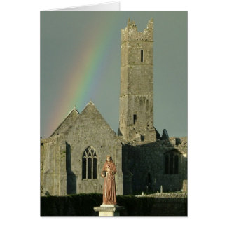 Quin Abbey Greeting Card