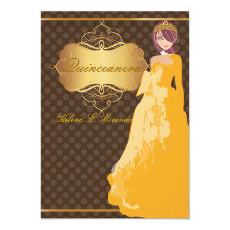 Quince/Sweet 16/ princess/polka dots Card