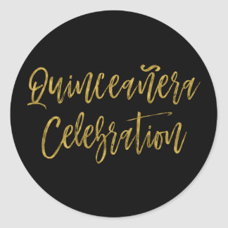 Quinceanera Celebration | 15th Birthday Classic Round Sticker
