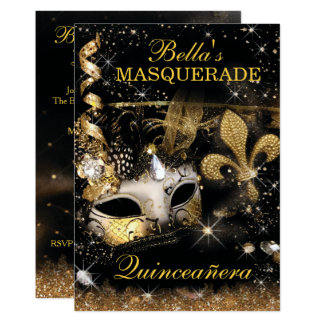 Quinceanera Masquerade Birthday Party Invitations