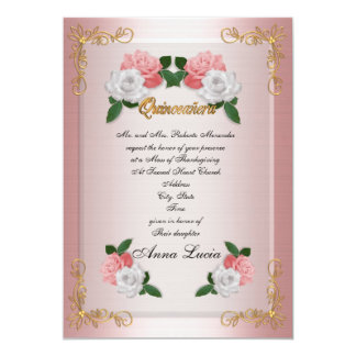 Quinceanera Mass invitation 15th Birthday elegant