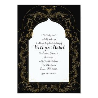 quinceañera MOROCCAN quince invitation GOLD