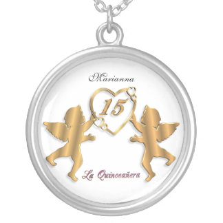 Quinceanera Necklace 15th birthday charm