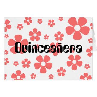 Quinceañera - Pink Flowers card