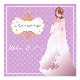 Quinceañera/Quince años princess/diy background Card