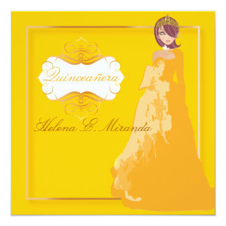 Quinceañera/Quince años princess/faux gold Card