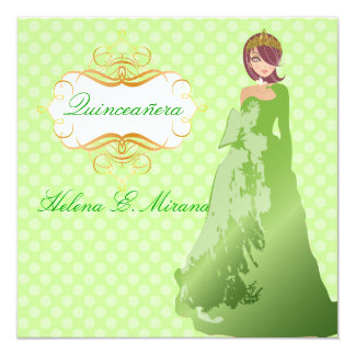 Quinceañera/Quince años princess/polka dots Card