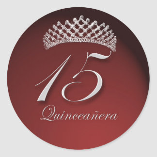 Quinceanera Stickers with Tiara