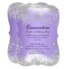 Quinceanera Winter Wonderland Lilac Purple Snow Card