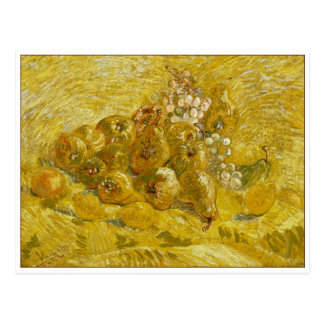 Quinces, Lemons, Pears and Grapes by Van Gogh Postcard
