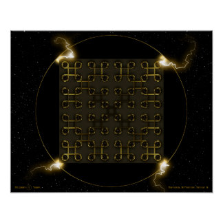 Quincuncial Bio-Spacetime Nanochip II Poster