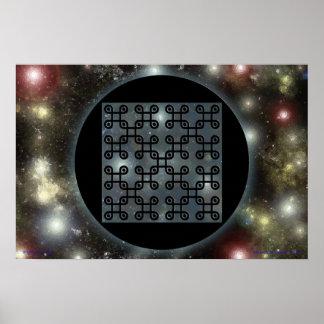 Quincuncial Bio-Spacetime Nanochip Print
