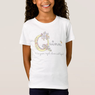 Quinn girls Q name meaning monogram tee