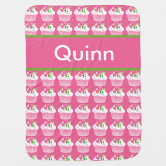 Quinn's Personalized Cupcake Blanket