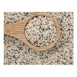 Quinoa with Wooden Spoon Postcard