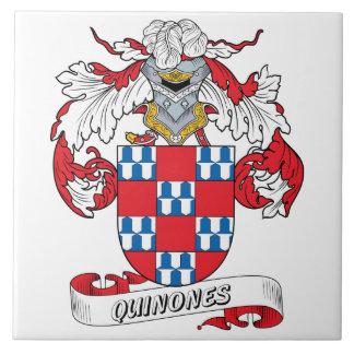 Quinones Family Crest Tile