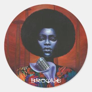 Quintessential Funk LP Classic Round Sticker