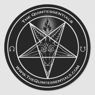 "Quintessentials ""Baphomet"" Sticker! Classic Round Sticker"