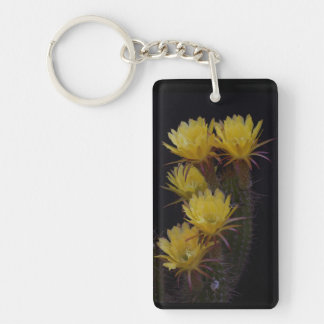 Quintuple of cactus flowers keychain