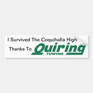 Quiring Towing Bumper Sticker Car Bumper Sticker