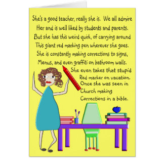 Quirky and Fun Teacher Cards