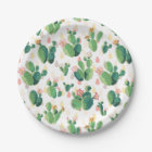 Quirky Cactus Garden Themed Party Plate