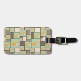 Quirky Corgi Kraft Present Gift Wrap Wrapping Luggage Tag