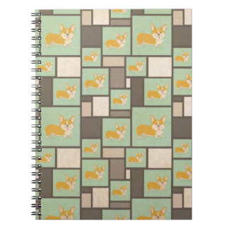 Quirky Corgi Kraft Present Gift Wrap Wrapping Notebook
