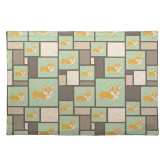 Quirky Corgi Kraft Present Gift Wrap Wrapping Placemat