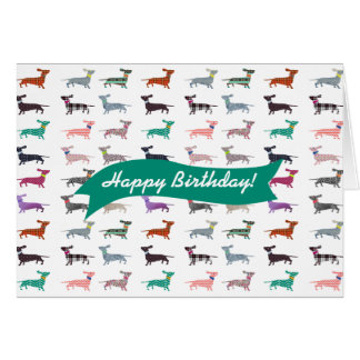 Quirky Dachshund Celebratory  & Birthday Card