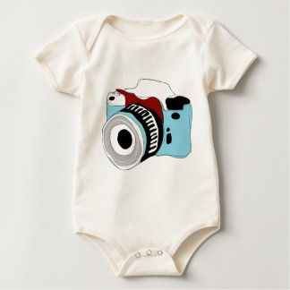 Quirky digital camera illustration baby bodysuit